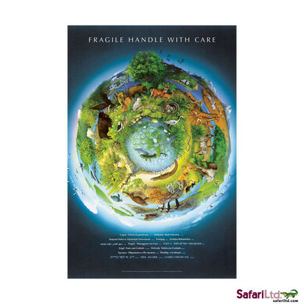 Educational Posters Fragile Earth Laminated picture