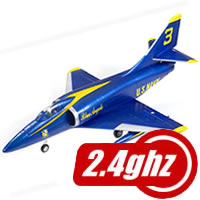 Fms A4 Skyhawk Blue Angel 64MM Edf Rtf 2.4Ghz picture