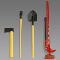 Pro-Line Scale Accessory Set #2 Lift Jack,Pry Bar,Shovel,Axe picture