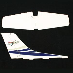Top Gun Park Flite Class 400 Cessna Tail Wing (Blue) picture