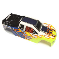Team Associated Mini MGT Printed Bodyshell - Yellow/Blue/White picture