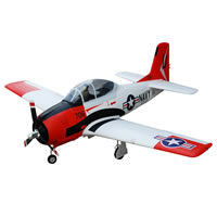 Fms T-28D Trojan W/3 Retract & Led W/O Tx/Rx/Batt - Red picture