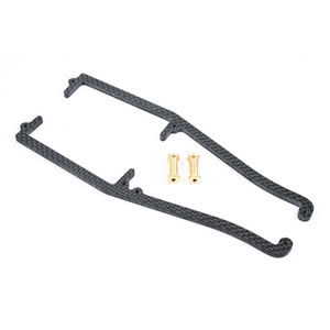 Centro Carbon Chassis Brace with 2 Short Brass Posts for the Centro C4.1 picture
