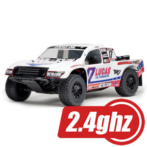 Team Associated Sc10 Lucas Oil 4X4 Brushless Rtr 2.4G/W/Resitant/3500Kv picture