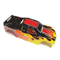 Team Associated Mini MGT Printed Bodyshell - Yellow/Red/Black picture