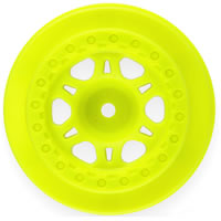 Pro-Line 'Split Six' Yellow One Piece Rear Wheels For Slash picture
