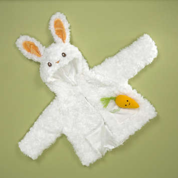 "INFANT BUNNY COAT 21"" L picture"