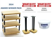 Evoque Eco 60-40 4 Shelf Rack & Moseco 6 speaker Stand Pack with FREE 7.5kg of Atabite Filler