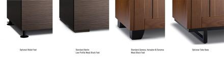 Chameleon wood block feet (triple width cabinets) Black picture