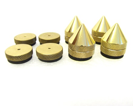 "Atacama ""Blue Eagle"" Solid Brass Isolation Cones 25mm (Pack of 4) picture"