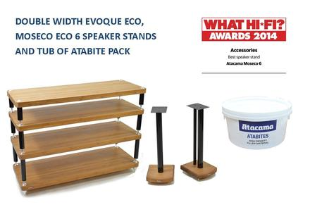 Evoque Eco 110-40 4 Shelf Rack & Moseco 6 speaker Stand Pack with FREE 7.5kg of Atabite Filler picture