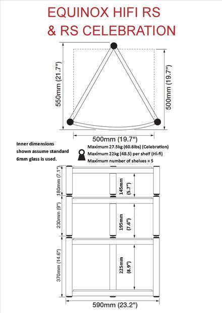 Equinox Hi-Fi RS 2 shelf base module picture
