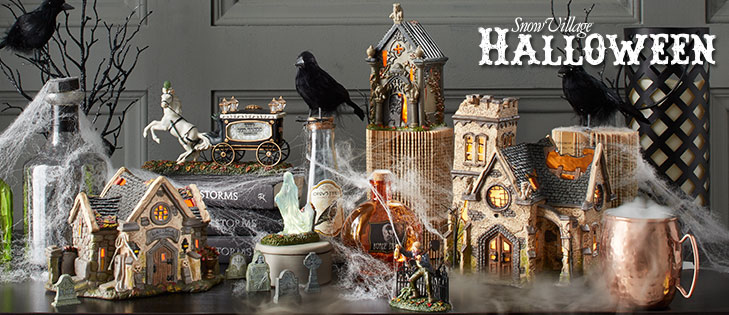 frightfully fun and painstakingly detailed the haunts of this halloween village will give you shivers of excitement add some spooky accessories and your