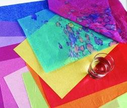 Papier de soie Spectra pour arts et artisanat - bleu azur, 76,2 cm x 50,8 cm (30 po x 20 po), cahier de 24 feuilles Image