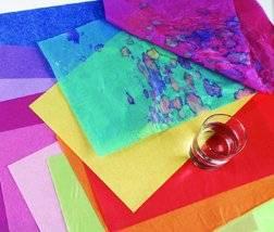 Papier de soie Spectra pour arts et artisanat - rouge chinois, 76,2 cm x 50,8 cm (30 po x 20 po), cahier de 24 feuilles Image