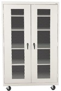 Grande armoire de rangement en métal - Unités mobiles (46 po x 24 po x 78 po) Image
