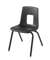 Chaise traditionnelle à quatre pieds Classroom Select® - 29,2 cm - Noire