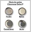 Chaise à quatre pieds à dossier souple Classroom Select™ NeoClass™ - 40,6 cm - Chrome Images supplémentaires 2