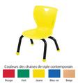 Chaises de style contemporain Classroom Select® avec pieds boules - Couleur du siège - (Votre choix) Couleur de l'armature (Noire) - H 25,4 cm