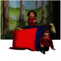 Coussins de sol Beau temps mauvais temps The Children's Factory® - Rouge et bleu (ens.-2)
