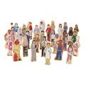 Ensembles de figurines en bois Wedgies™ - Ensemble des métiers - Ensemble de 30