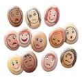 Pierres-visages d'expression émotionnelle de Yellow Door, ens. de 8