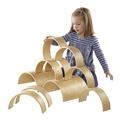 Ensemble de tunnels et d'arches en bois - Ensemble de 10