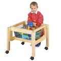 Petite table mobile carrée pour jeux d'eau et de sable Childcraft® - Hauteur pour tout-petits - l 59