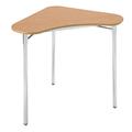 Pupitre Contemporary Collaboration® Classroom Select® - Triangle 71,1 cm x 71,1 cm x 91,4 cm 3 pieds Hauteur régl. 55,9 - 83,8 cm - Plateau stratifié