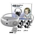 Centre d'écoute de base CD/AM-FM Hamilton™ Boombox Listening - Avec malette de transport - LCB/30/6-