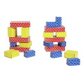 Ensemble de petits, moyens et grands blocs en carton ondulé - Ensemble de 36
