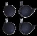 Accessoires - Roulettes pour Lit de camp bleu empilable ECR4Kids® pour enfants (pqt-4)