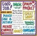 Timbres en caoutchouc pour professeurs - Notes du professeur - Ens. de 9