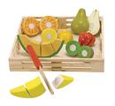 Ensembles d'aliments à découper en bois de Melissa & Doug® - Boîte de fruits à découper (ens.-18)