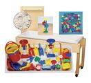 Table de jeux de sable et d'eau Childcraft® de 15 cm (6 po) de profondeur avec couvercle et ensemble