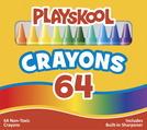 Crayons de cire Playskool® - Taille régulière - Assortiment - Ensemble de 64