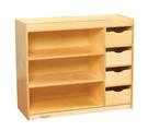 Étagères avec tiroirs Childcraft® - 4 tiroirs - L91 cm x P36 cm x H76 cm