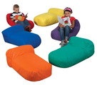 Coussins de sol Haricot The Children's Factory® Cuddle-ups® - Assortiment de couleurs (ens.-6)