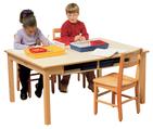 Table/bureau de 91,4cm x 1,2m pour la bibliothèque ou la classe Childcraft - L91cm x P1,2m, H55,9cm