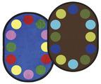 Tapis à plusieurs points Lots of Dots™ de Joy Carpets - Ovale - 162,56 x 233,68 cm (5 pi, 4 po x 7 pi, 8 po) - Couleur À SPÉCIFIER