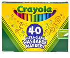 Ensemble de marqueurs Ultra-Clean Washable™ Crayola® - Pointe fine - Assortiment - Ensemble de 40