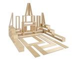 Ensembles de blocs creux en bois de première qualité - Taille standard - Ensemble de 40