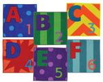 Tapis de lettres et nombres (Letters & Numbers™) de Joy Carpets - 40,64 x 40,64 cm (16 x 16 po) - En