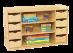 Étagères avec tiroirs Childcraft® - 8 tiroirs - L1,21 m x P36 cm x H76 cm
