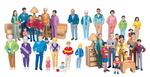 Figurines de jeu - Ensemble de familles complet - 4 ethnies, 8 figurines chacune ens.-32
