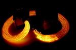 Faisceaux de fibre optique DEL Iris avec Qube versicolore
