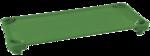 Lits de camp empilables de diverses couleurs ECR4Kids® pour enfants - L 1,32 m x l 58,4 cm x H 12,7 cm - Assemblés (Un de chaque couleur : vert, rouge, jaune, bleu) pqt-4