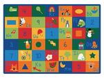 Tapis Carpets for Kids® à cases d'apprentissage - Couleurs primaires (rectangle) - 134,62 x 177,8 cm