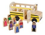 Pièces de jeu imaginatif Melissa & Doug® Whittle World™ - Autobus scolaire avec 7 figurines