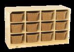 Casier mobile Korners for Kids® de 12 compartiments pour tout-petits avec paniers